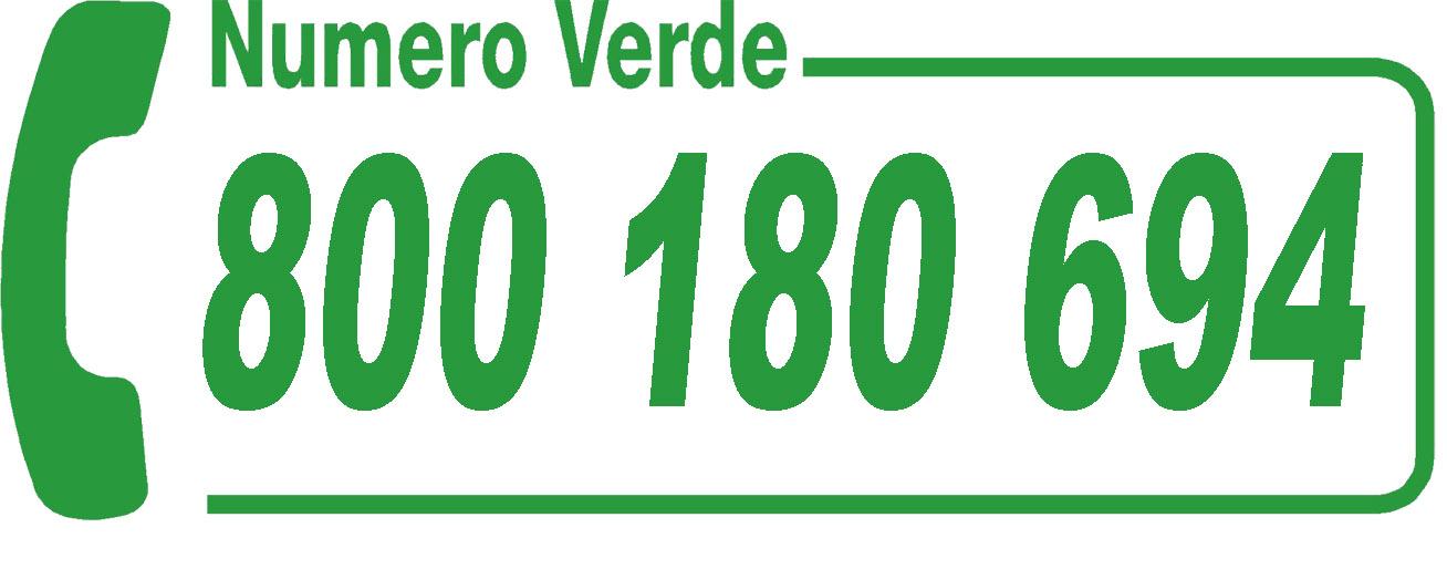 Numero Verde 800 180 694