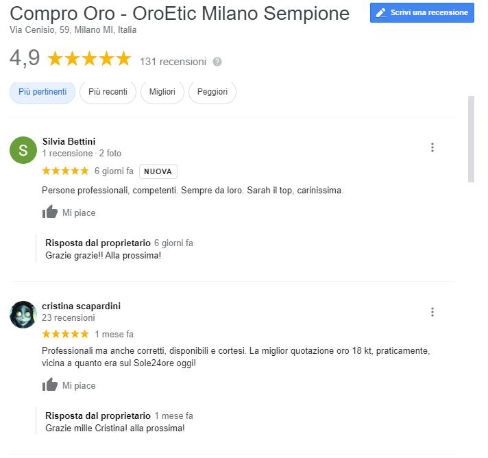 compro oro Milano centro